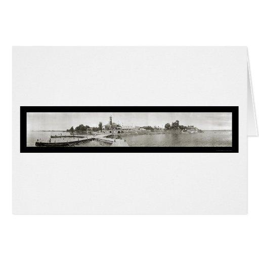 Foto 1909 del PA del lago Conneaut Tarjeta De Felicitación