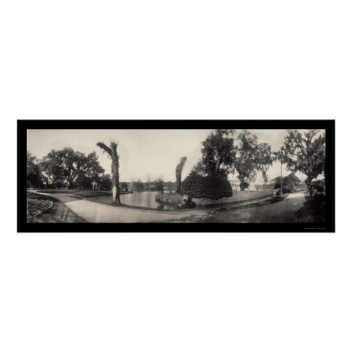 Foto 1909 del parque de la ciudad de New Orleans Póster