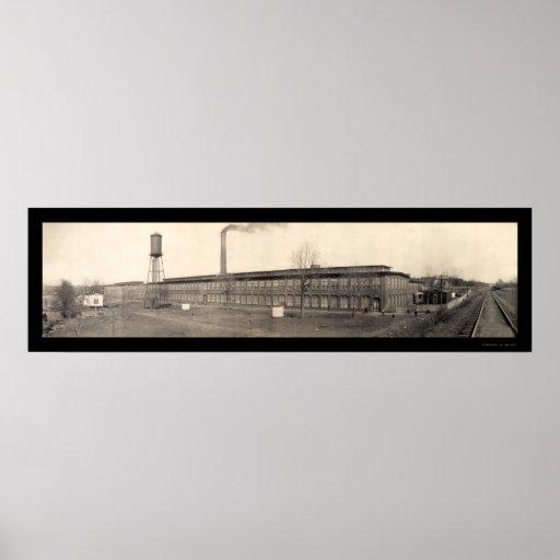 Foto 1909 del SC de Spartanburg del algodón Poster