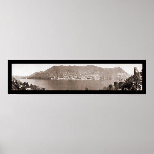 Foto 1910 de Como Italia del lago Poster