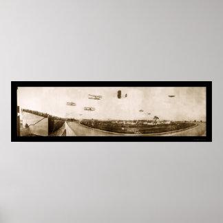 Foto 1910 de Indianapolis del aeroplano Póster