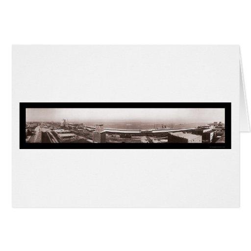 Foto 1910 de la bahía TX de Galveston Felicitaciones