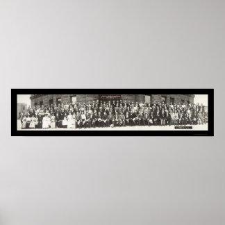 Foto 1910 de la fraternidad de los Teamsters Póster