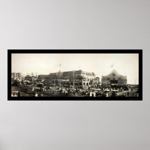 Foto 1910 de la gente de Redondo Beach Póster