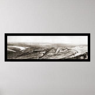 Foto 1910 de la mina de cobre de Utah Poster