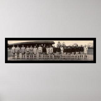 Foto 1910 de Yale del béisbol del equipo universit Poster