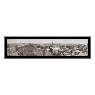 Foto 1910 del cielo de Worcester mA Póster