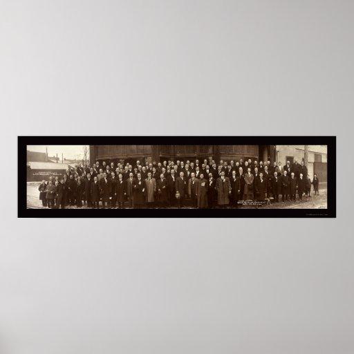 Foto 1910 del convenio de los comerciantes póster