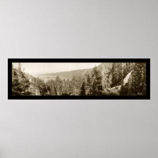 Foto 1910 del lago Tahoe CA Póster