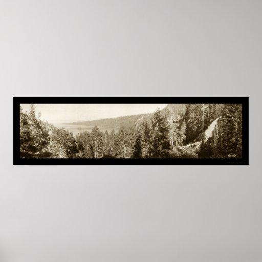 Foto 1910 del lago Tahoe CA Poster