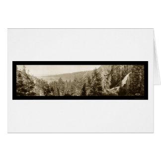 Foto 1910 del lago Tahoe CA Tarjeta De Felicitación