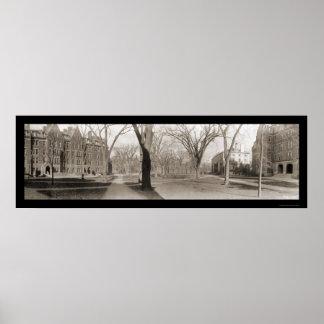 Foto 1910 del mA de la Universidad de Harvard Póster