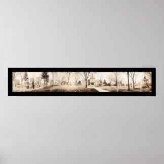 Foto 1910 del parque del PA de Meadville Póster