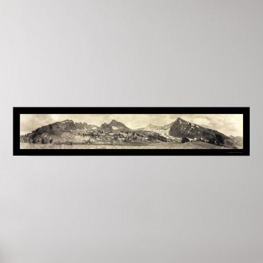 Foto 1911 de la identificación del Mt Hyndman Poster