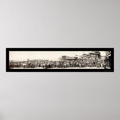 Foto 1911 del club de la motocicleta de Los Ángele Posters