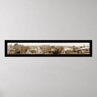 Foto 1911 del horizonte del manganeso de Minneapol Póster