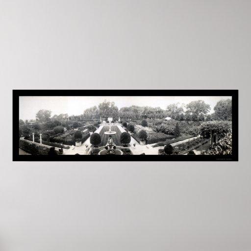 Foto 1911 del jardín de Brookline mA Impresiones