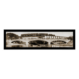 Foto 1911 del puente del manganeso de Mankato Póster
