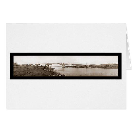 Foto 1912 de Humboldt del puente del río de la Tarjeta De Felicitación