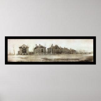 Foto 1912 de la escuela del manganeso de Moorhead Póster