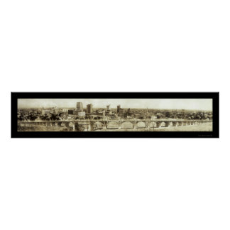 Foto 1912 del horizonte de Dallas del viaducto Posters