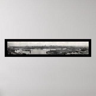 Foto 1912 del horizonte del manganeso de Minneapol Póster