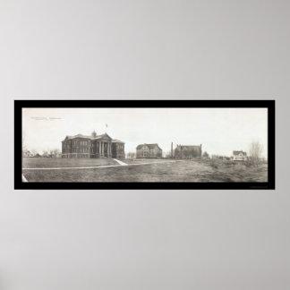 Foto 1912 del manganeso de la universidad de Conco Póster