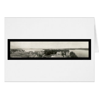 Foto 1912 del mesón y del lago de Saranac Tarjeta De Felicitación