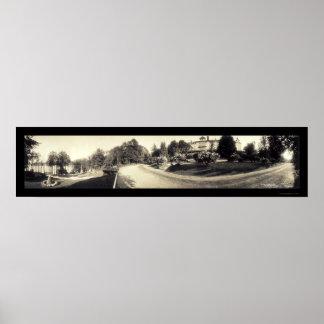Foto 1913 de Hopatcong Breslin del lago Poster