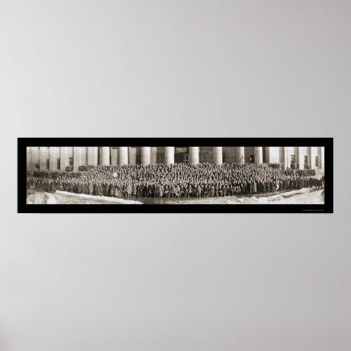 Foto 1913 de la liga del Anti-Salón de Columbus, O Poster