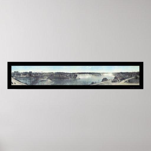 Foto 1913 de Niagara Falls, Canadá Póster