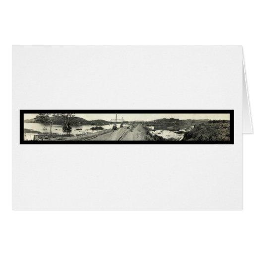 Foto 1913 de Panamá del dique de Gamboa Tarjeta De Felicitación