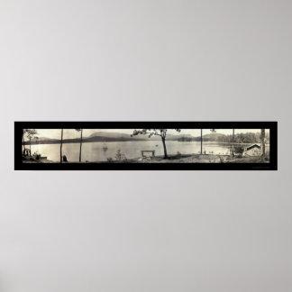 Foto 1913 de Toxaway del lago sailing Impresiones