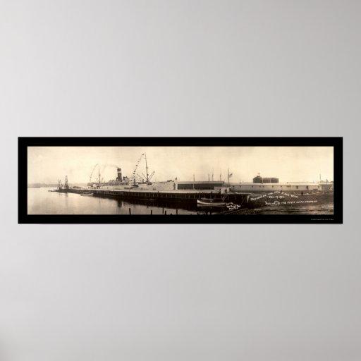 Foto 1913 del buque de vapor de Providence Poster