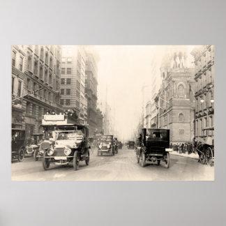 Foto 1913 del vintage de Nueva York de la Quinta A Póster