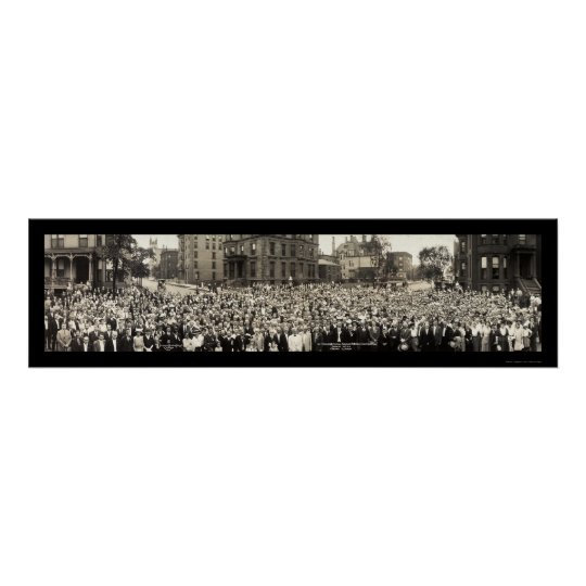 Foto 1914 de Chicago de la escuela dominical Póster