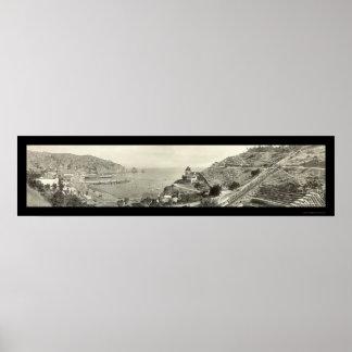 Foto 1914 de la isla de Santa Catalina Póster
