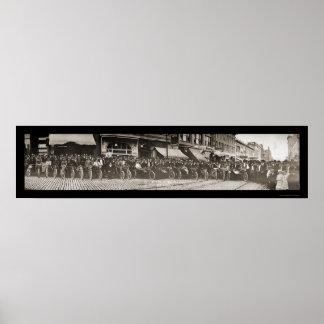 Foto 1914 de la motocicleta de la TA de la mota Póster