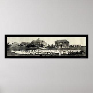 Foto 1914 de los huérfanos TX de las personas impa Póster