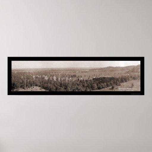Foto 1914 de los WI de Douglas del campo del ejérc Póster
