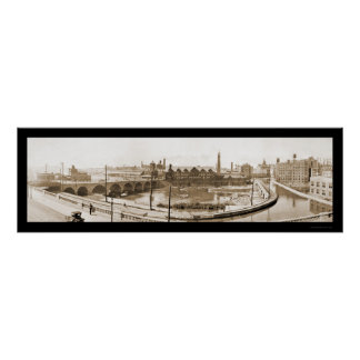 Foto 1914 de Rochester, río de NY Póster