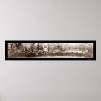 Foto 1914 del cementerio de Arlington Poster
