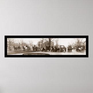 Foto 1914 del cuerpo de bomberos de Middletown Póster