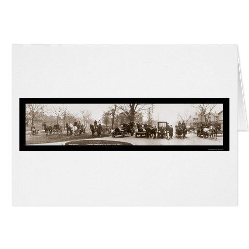 Foto 1914 del cuerpo de bomberos de Middletown Tarjeta