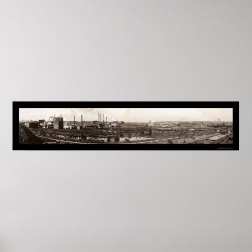 Foto 1914 del NE de Omaha de los corrales Póster
