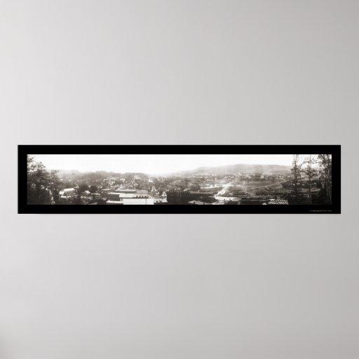 Foto 1915 de Vermont del empalme del tren Póster