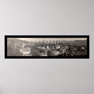 Foto 1915 del PA del viaducto de Nicholson Póster