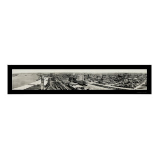 Foto 1915 del puerto de Galveston TX Poster