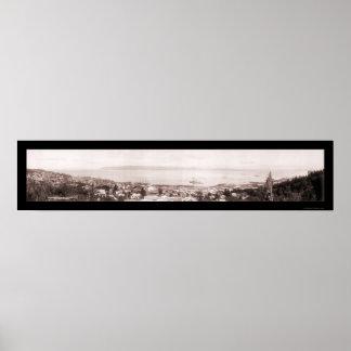 Foto 1915 del río Columbia Astoria Poster