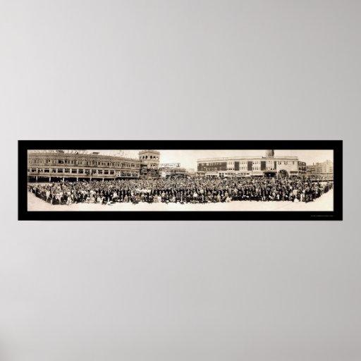 Foto 1915 del salón de Atlantic City Posters
